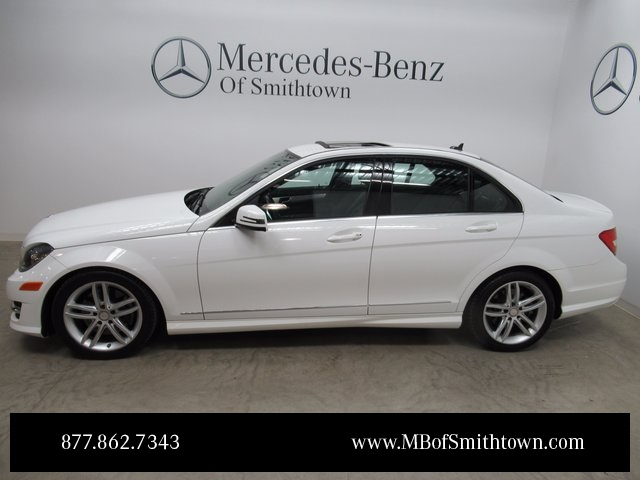 Certified pre owned 2013 mercedes benz c class c 300 4d for Mercedes benz smithtown service